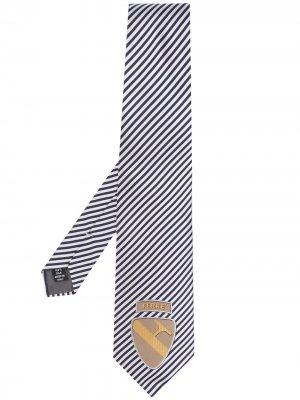 Галстук 1990-х годов в диагональную полоску с логотипом Gianfranco Ferré Pre-Owned. Цвет: синий