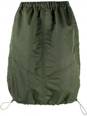 Юбка с кулиской YMC. Цвет: зеленый