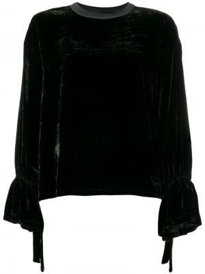 Бархатный свитер Roberto Collina. Цвет: серый