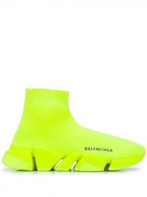 Кроссовки-носки Speed.2 Balenciaga. Цвет: желтый