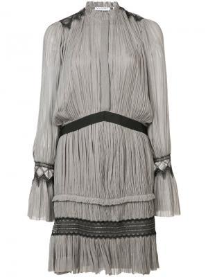Короткие плиссированное платье Vionnet. Цвет: серый