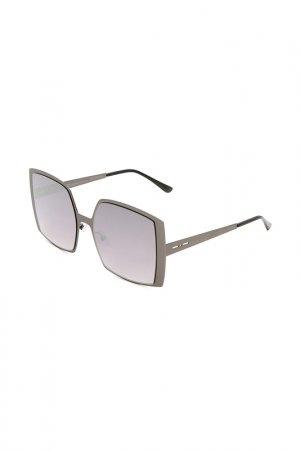 Очки солнцезащитные с линзами ITALIA INDEPENDENT. Цвет: 078 000 серый металлик матовый