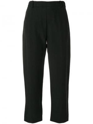 Повседневные брюки укороченной длины Ilaria Nistri. Цвет: черный