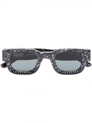 Солнцезащитные очки из коллаборации с Rhude Rhevision 668 Thierry Lasry. Цвет: серый