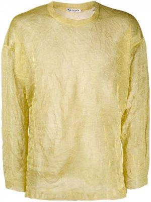 Трикотажный свитер с жатым эффектом Our Legacy. Цвет: желтый