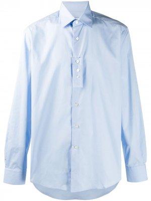 Рубашка узкого кроя LANVIN. Цвет: синий