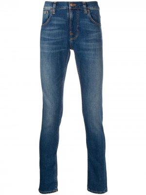Джинсы скинни Terry Nudie Jeans. Цвет: синий