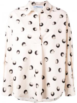 Рубашка с рисунком Blumarine. Цвет: нейтральные цвета