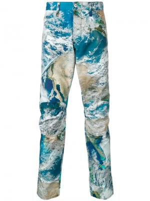 Abstract print trousers G-Star Raw Research. Цвет: синий
