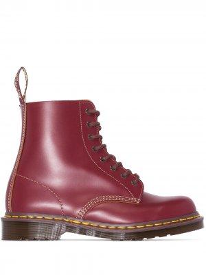 Ботинки Vintage 1460 в стиле милитари Dr. Martens. Цвет: красный