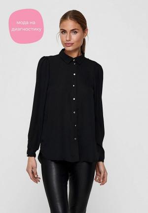 Рубашка Only. Цвет: черный