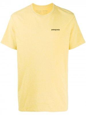 Футболка P-6 Logo Responsibili-Tee® Patagonia. Цвет: желтый