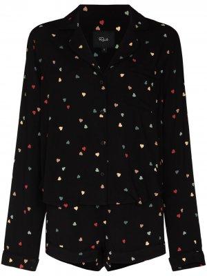 Пижама Kellen с принтом Rails. Цвет: черный