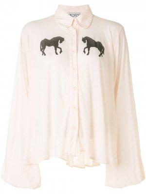 Блузка с принтом Wildfox. Цвет: белый