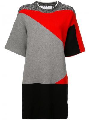 Жаккардовое платье PSWL Proenza Schouler. Цвет: красный