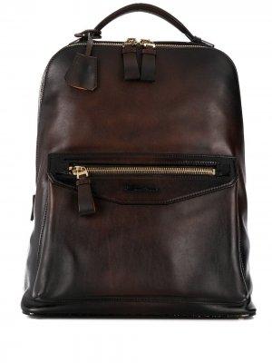 Рюкзак на молнии Santoni. Цвет: коричневый