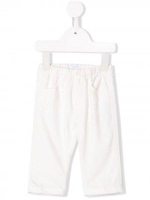 Однотонные брюки Il Gufo. Цвет: белый