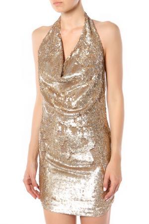 Платье Haute Hippie. Цвет: золотой