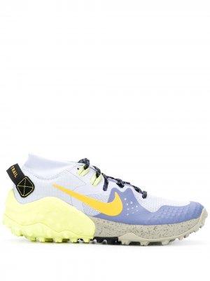 Беговые кроссовки Wildhorse 6 Nike. Цвет: синий