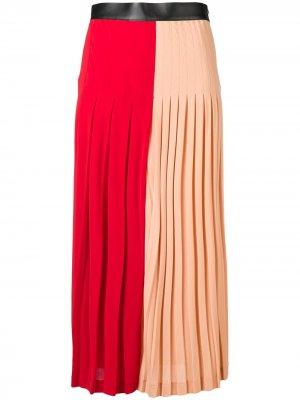 Плиссированная мини-юбка Givenchy. Цвет: красный