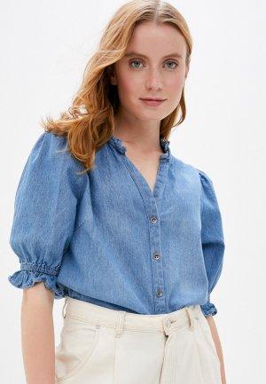 Рубашка джинсовая Cotton On. Цвет: синий