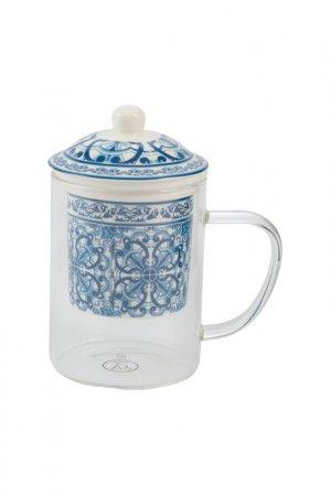 Чашка с фильтром MAROCCO VILLA DESTE. Цвет: белый