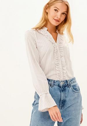 Блуза Sisley. Цвет: бежевый