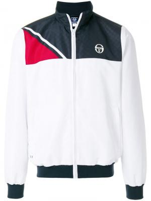 Спортивная куртка с застежкой на молнию Sergio Tacchini. Цвет: белый