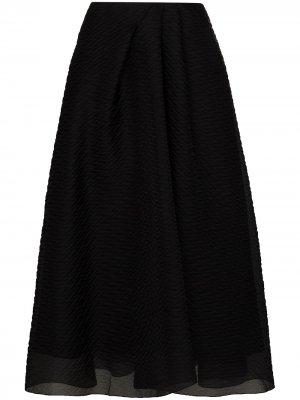 Многослойная юбка миди Mulligan Roland Mouret. Цвет: черный