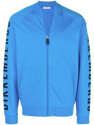 Zip front sweatshirt Dirk Bikkembergs. Цвет: синий