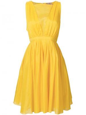 Летнее платье с пышной юбкой Nº21. Цвет: желтый