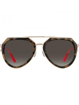 Aviator frame sunglasses Matthew Williamson. Цвет: коричневый