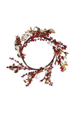 Новогодний декоративный венок DUE ESSE CHRISTMAS. Цвет: коричневый
