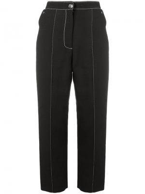 Contrast cropped trousers Temperley London. Цвет: черный