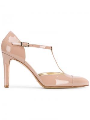 Туфли-лодочки с заостренным носком и T-образным ремешком Antonio Barbato. Цвет: розовый