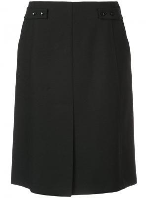 Прямая юбка миди Narciso Rodriguez. Цвет: черный