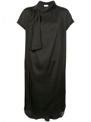 Платье с завязками By Malene Birger. Цвет: черный