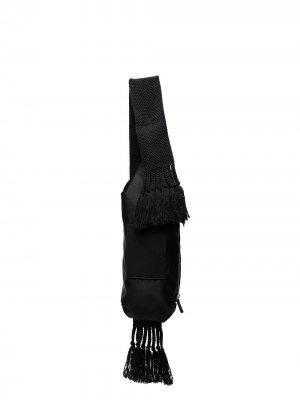 Сумка на плечо с кисточками Jil Sander. Цвет: черный