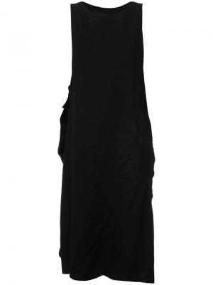 Платье с мятым эффектом Y's. Цвет: черный