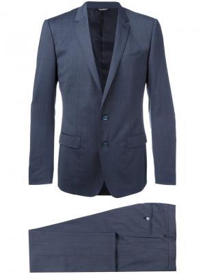Деловой костюм Dolce & Gabbana. Цвет: синий