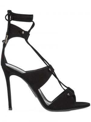 Босоножки со шнуровкой Thomas Wylde. Цвет: черный