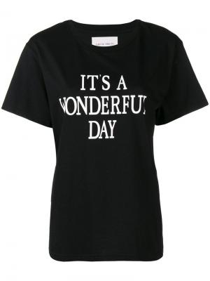 Its a Wonderful Day T-shirt Alberta Ferretti. Цвет: черный