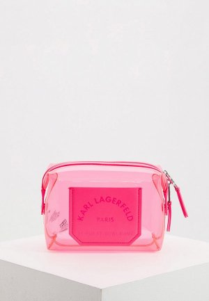 Косметичка Karl Lagerfeld. Цвет: розовый