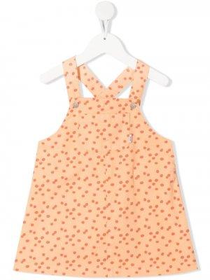 Платье-сарафан в горох Knot. Цвет: оранжевый