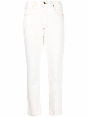 Прямые джинсы средней посадки Slvrlake. Цвет: белый