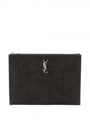 Чехол для iPad с логотипом YSL Saint Laurent. Цвет: черный