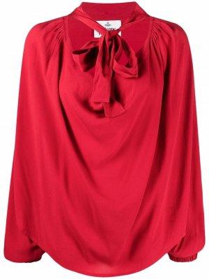 Блузка с завязками и драпировкой Vivienne Westwood. Цвет: красный
