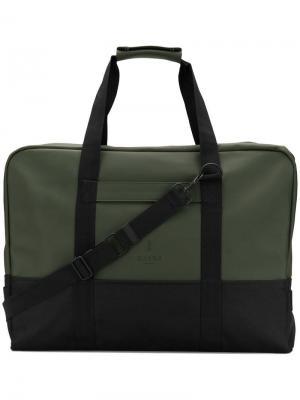 Water-resistant duffel bag Rains. Цвет: зеленый