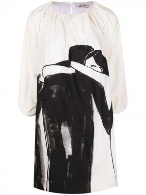 Расклешенное платье мини Hold Me Ports 1961. Цвет: белый