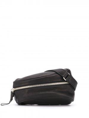 Полукруглая поясная сумка Cornelian Taurus By Daisuke Iwanaga. Цвет: черный